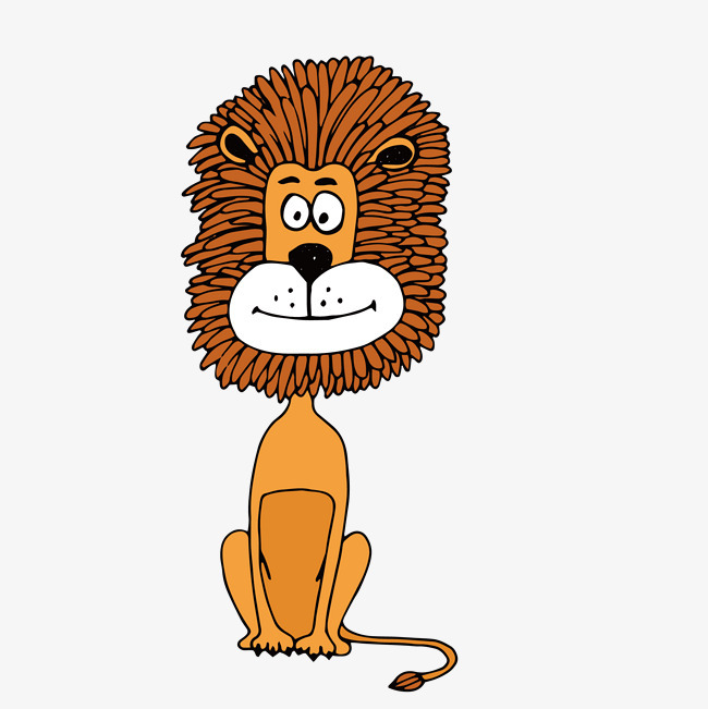 图片 > 【png】 坐着的卡通狮子简图  分类:手绘动漫 类目:其他 格式