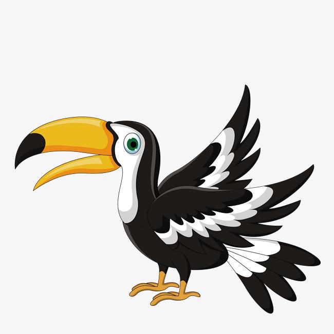 卡通版手绘的鹦鹉