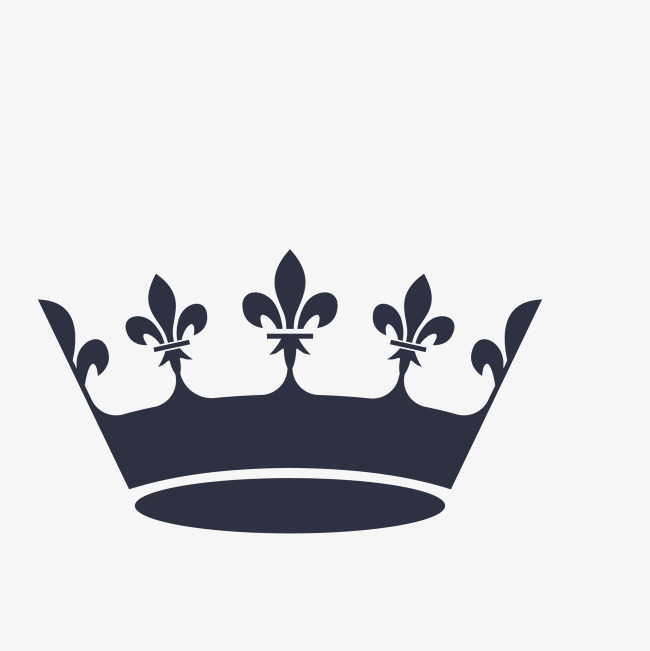 黑色手绘简约皇冠