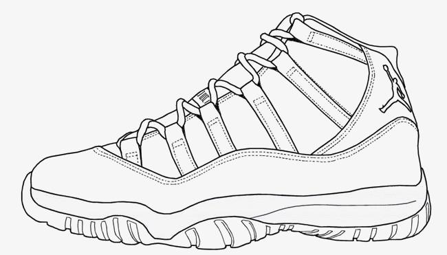 手绘运动鞋效果图