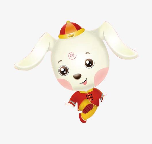 蹦蹦跳跳的小狗简图图片