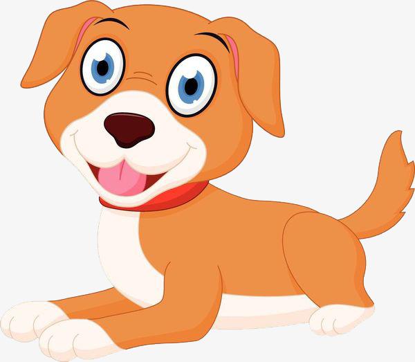 图片 > 【png】 卡通坐着的橘色小狗免抠图  分类:手绘动漫 类目:其他