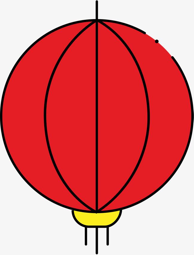卡通圆形新年灯笼简笔画