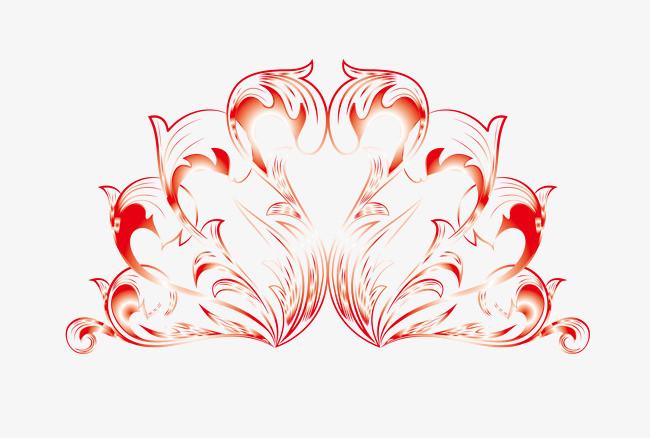 扇形花纹红包边框png