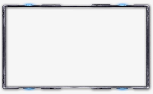 科技感文字框框装饰png素材