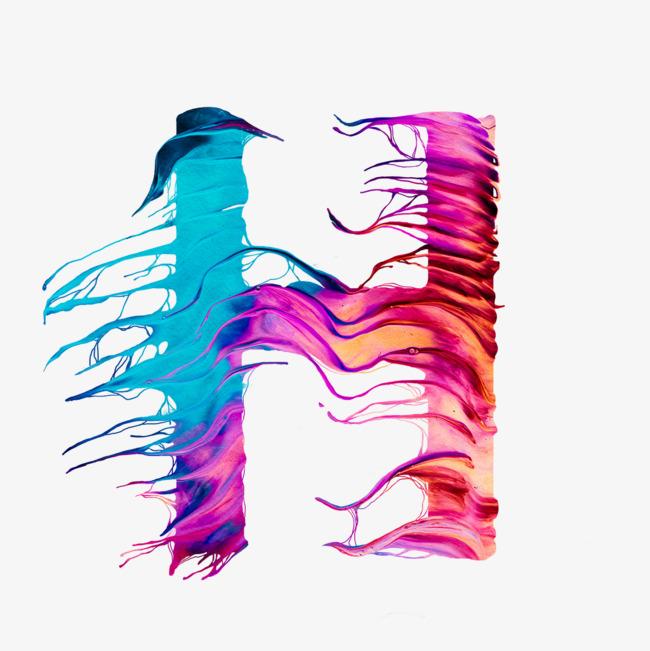 创意卡通装饰英文字母彩色字母h_艺术字设计_千库网图片