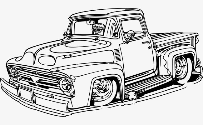 复古汽车手绘矢量图png素材下载_高清图片png格式(:)