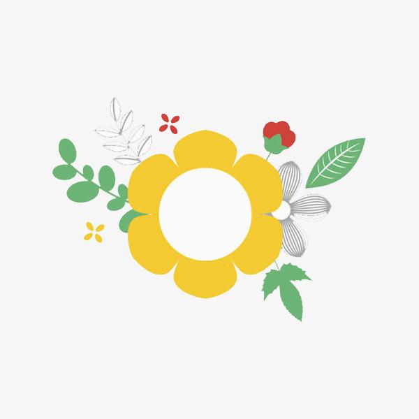 手绘鲜花装饰免抠图_png素材免费下载_ 600*600像素