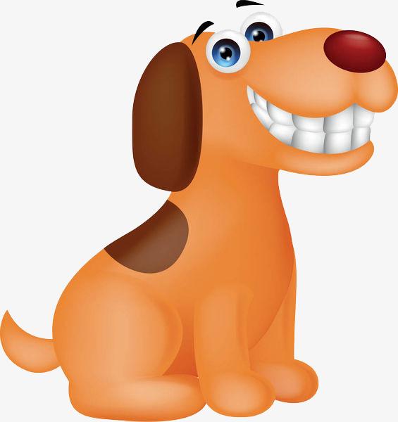 卡通高兴的小狗免抠图图片