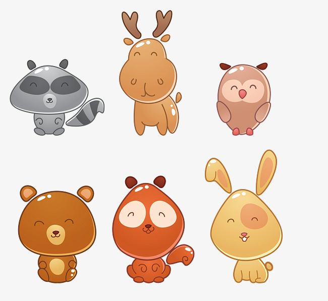 卡通可爱的动物设计