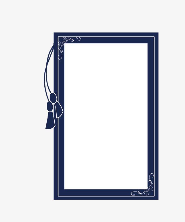 矢量卡通扁平化长方形中国风文本框png