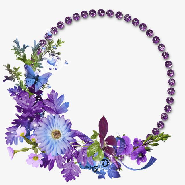 紫色花环免抠下载_png素材免费下载_ 1181*1181像素