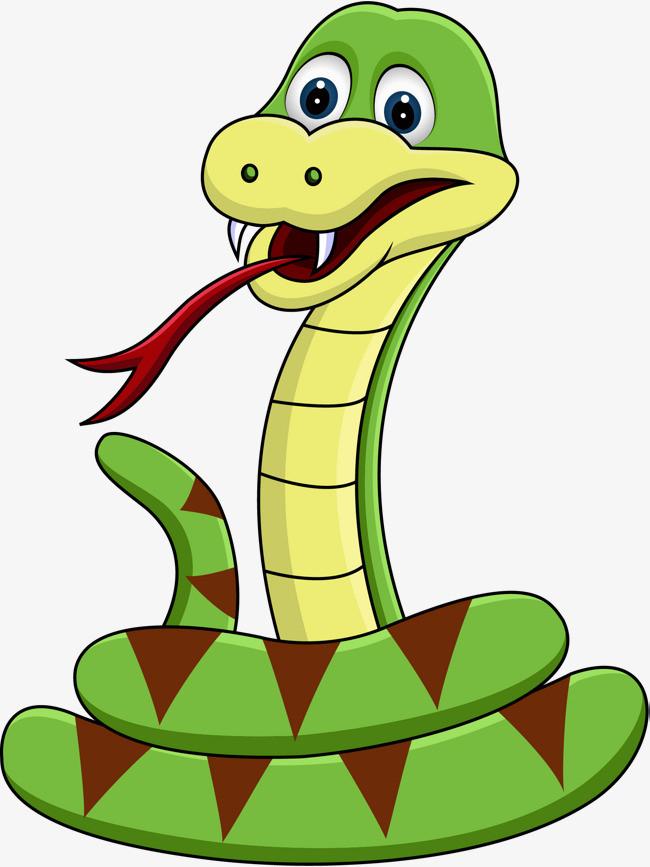 冷血动物卡通手绘毒蛇