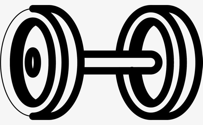 粗线条圆圈矢量哑铃