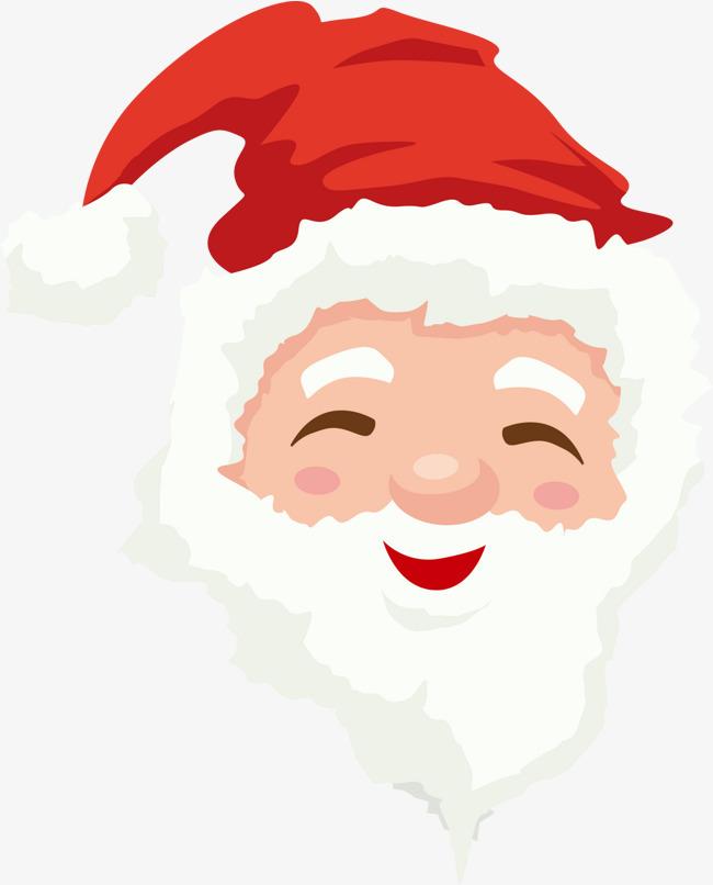 红色微笑圣诞老人头像