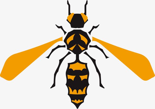 手绘动物黄色蜜蜂
