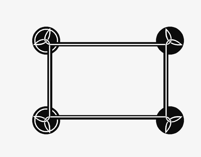 矢量中国风卡通扁平化文本框设计免抠