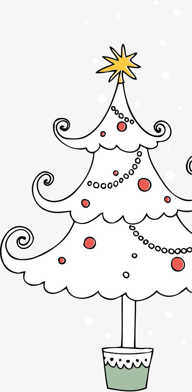 圣诞节白色圣诞树