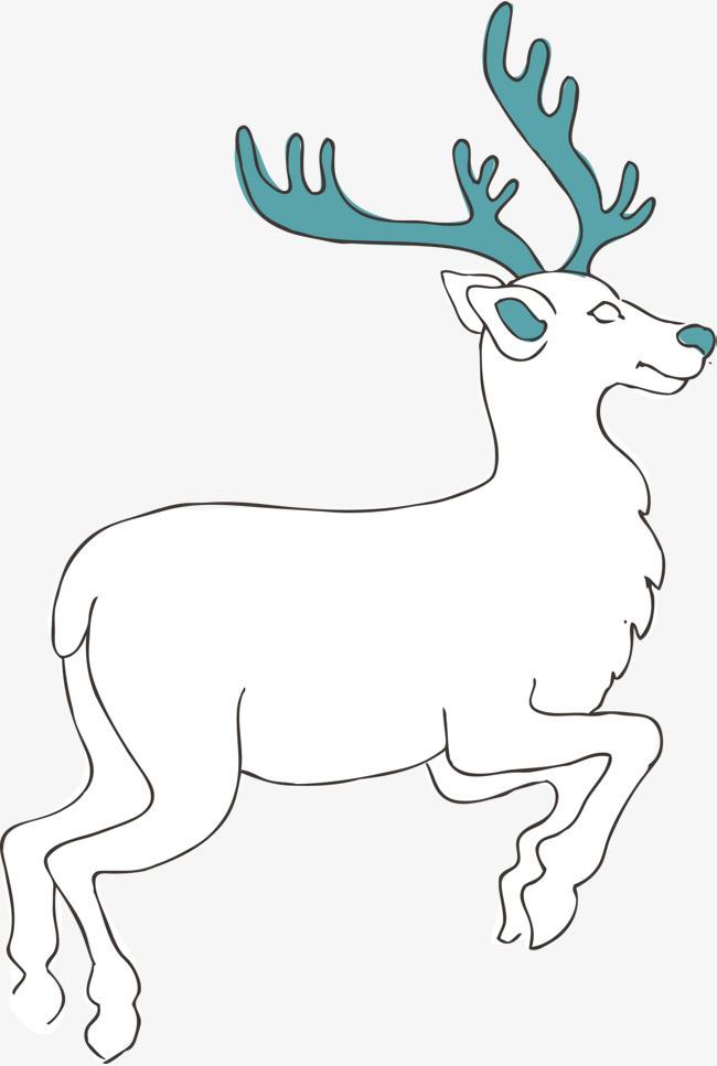 麋鹿简笔画手绘