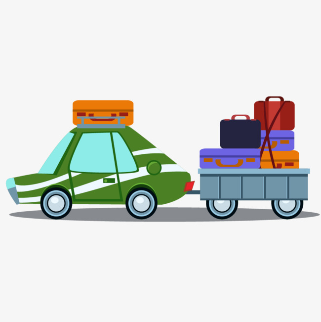 汽车拉行李箱推车