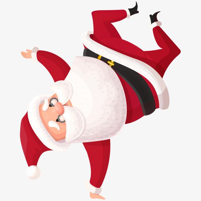 单手倒立_单手倒立的圣诞老人