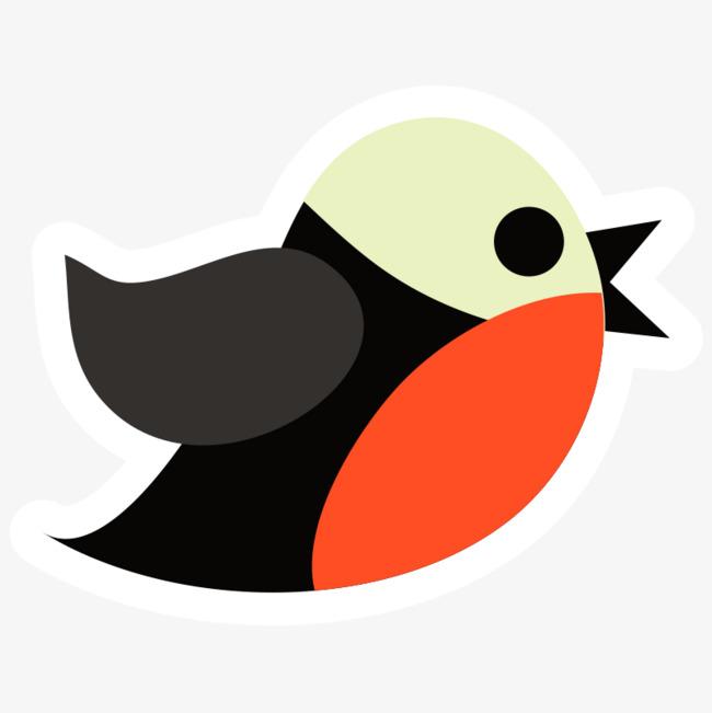 彩色手绘飞翔的小鸟