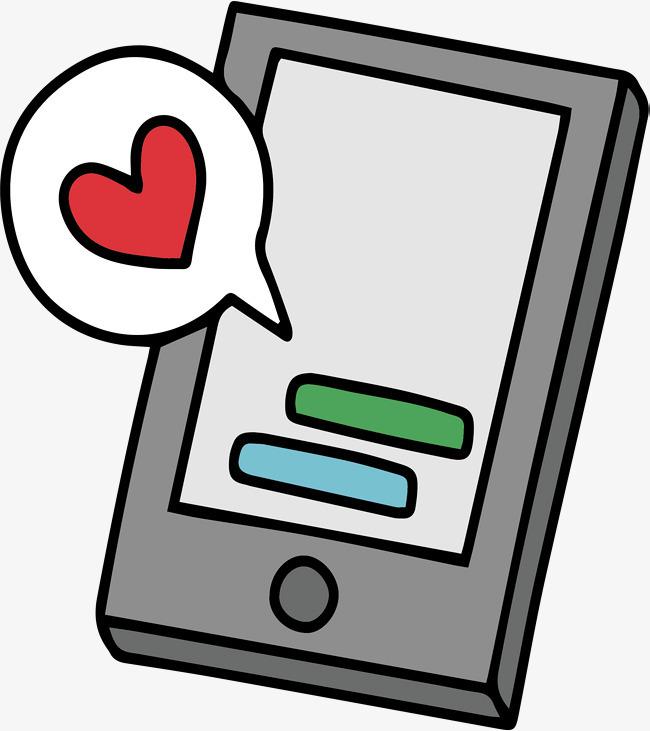 手机收发甜蜜的爱情短信_png素材免费下载_ 2147*2412