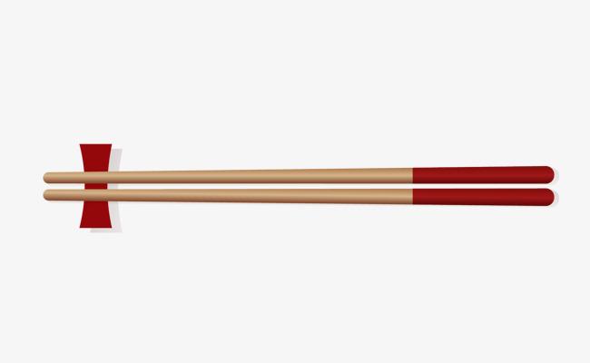 手绘一双筷子矢量图