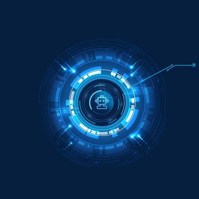 蓝色科技感酷圆圈免抠png图_png素材免费下载_ 3000*