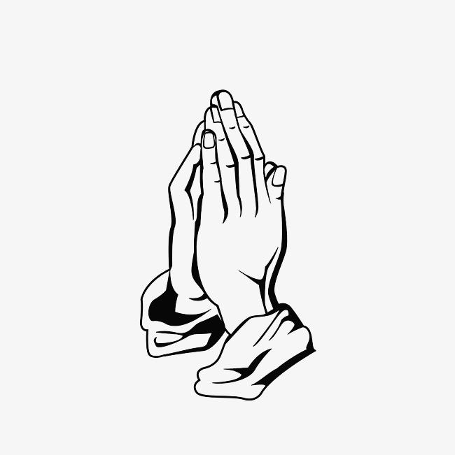 祈祷的手手绘图手部特写 双手合十 虔诚png免费下载 手机端:手绘祈祷