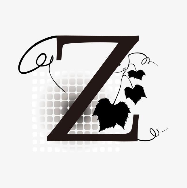 卡通手绘英文字母z