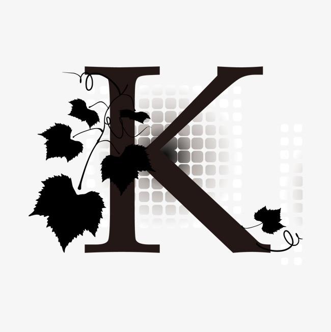 卡通手绘英文字母k