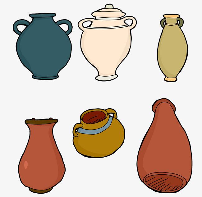 手绘彩色蓄水陶罐