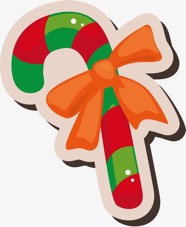绿色圣诞节拐杖糖果