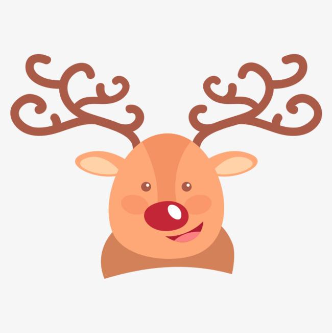 棕色的圣诞节圣诞鹿头像_png素材免费下载_ 800*800图片