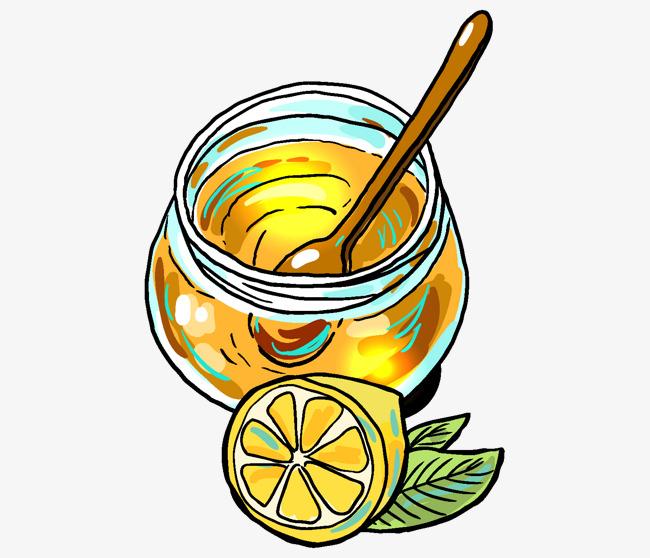 手绘金子蜂蜜罐子