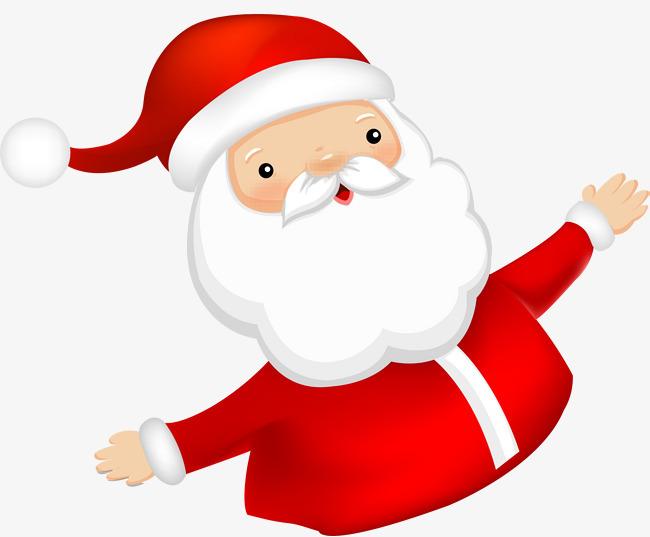 红色可爱拥抱圣诞老人图片