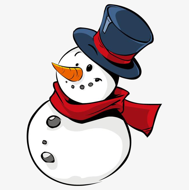 卡通可爱雪人免抠图_png素材免费下载_ 1500*1500像素
