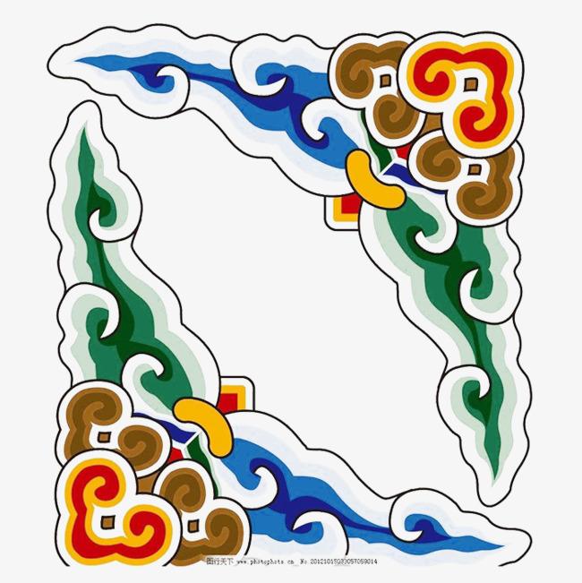 中国风祥云特色边框