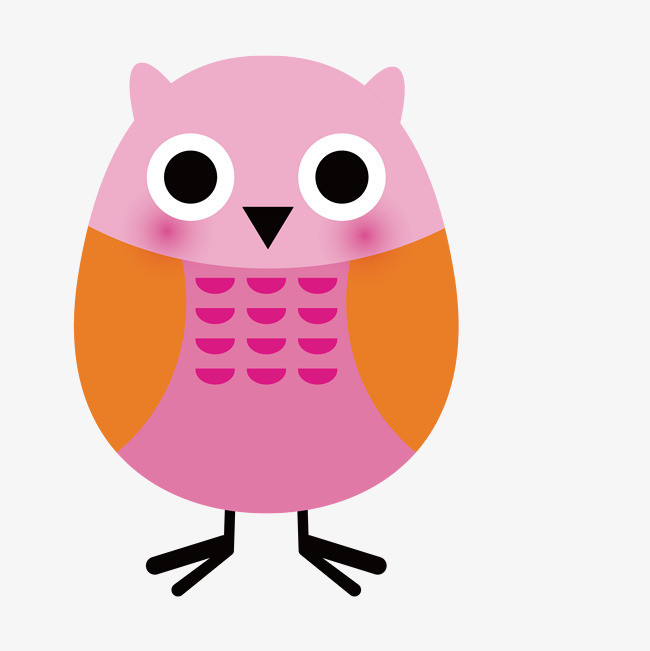 卡通可爱小动物装饰设计动物头像猫头鹰
