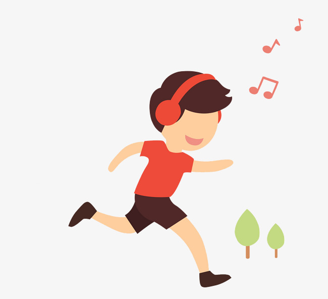 卡通跑步的男孩免抠图图片