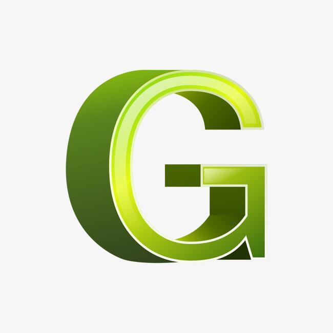 卡通手绘绿色字母g