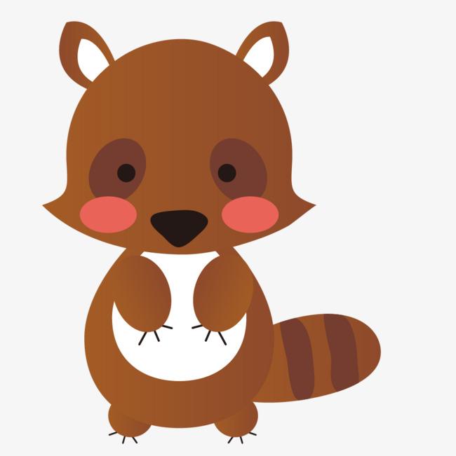 棕色的卡通小动物