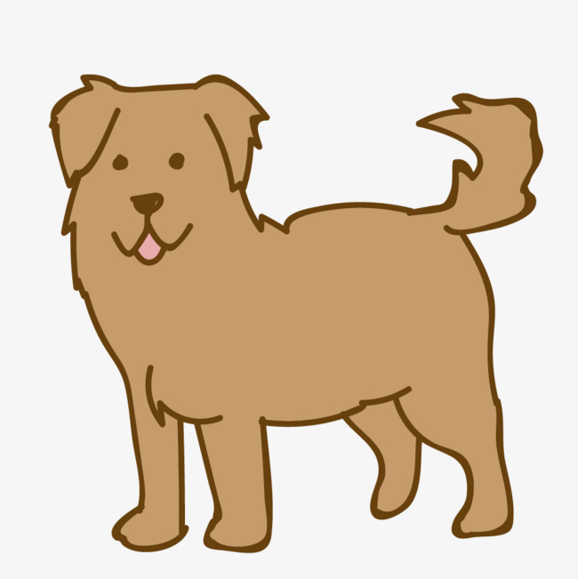 图片 > 【png】 卡通手绘可爱的小狗  分类:手绘动漫 类目:其他 格式