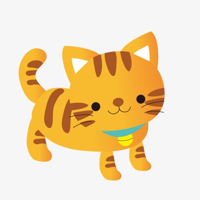 动漫卡通黄色小�_黄色的卡通小猫咪
