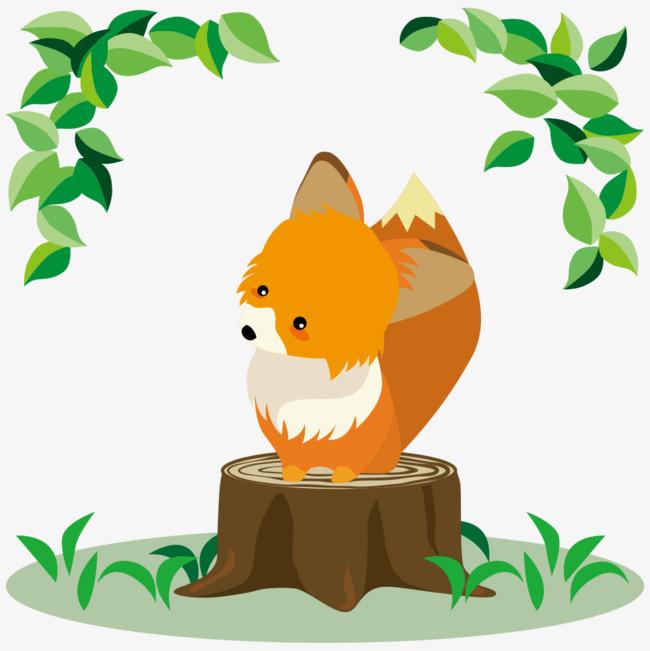 卡通手绘可爱的小松鼠