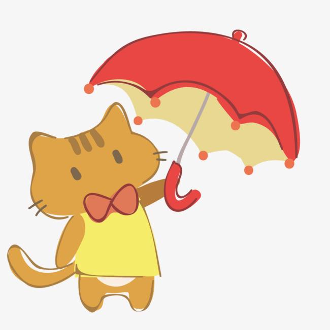 手绘卡通小动物插画装饰猫咪图片