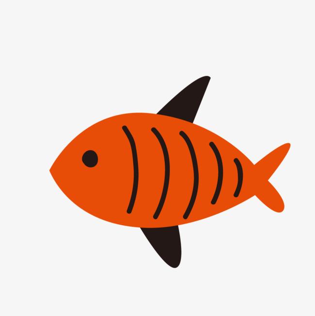 手绘卡通小清新海洋动物鱼