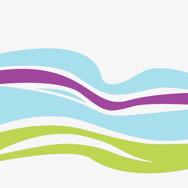 手绘扁平化不规则波浪线