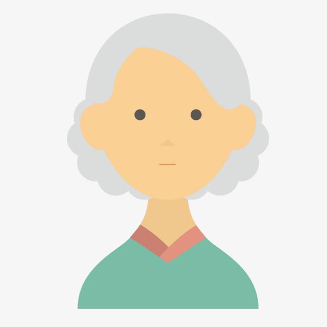 卡通老奶奶人物头像